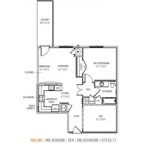 Floor Plan 4 | Lofts at Valley Forge