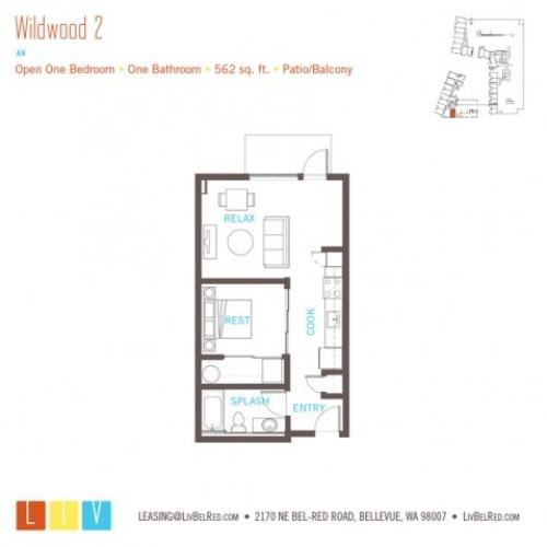 Floor Plan 5 | Bellevue Washington Apartments | LIV