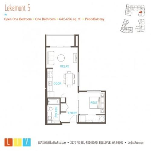 Floor Plan 9 | Apartments Bellevue WA | LIV