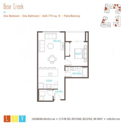 Floor Plan 10 | Bellevue Washington Apartments | LIV