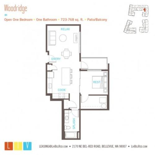 Floor Plan 14 | Apartments Bellevue WA | LIV