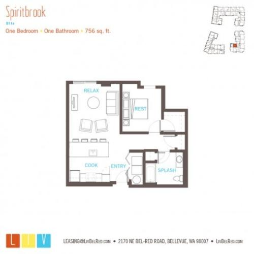 Floor Plan 16 | Apartments For Rent In Bellevue Washington | LIV