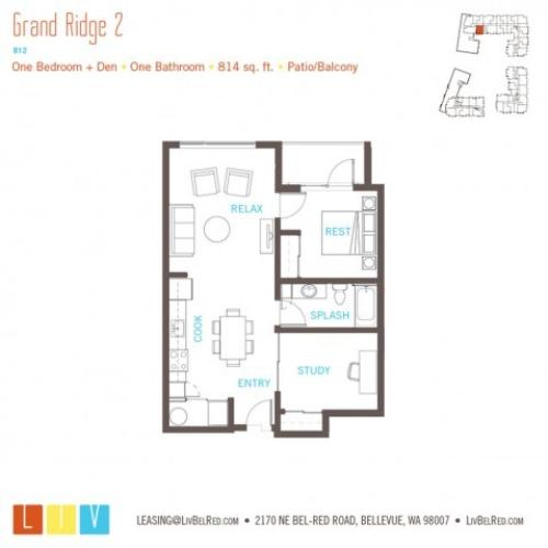 Floor Plan 19 | Apartments Bellevue WA | LIV