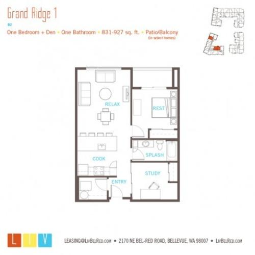 Floor Plan 21 | Apartments For Rent In Bellevue Washington | LIV