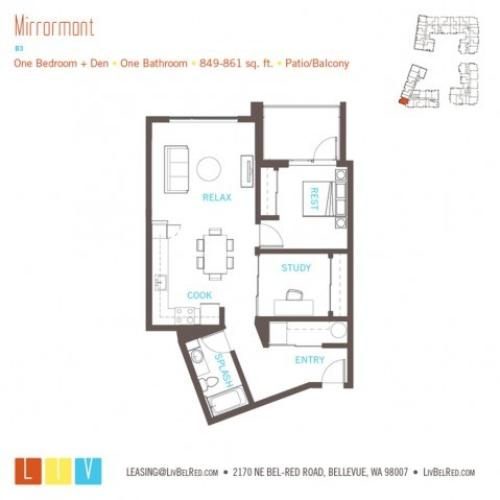 Floor Plan 22 | Bellevue Apartments | LIV