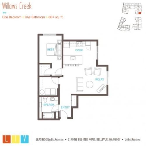 Floor Plan 24 | Apartments Bellevue WA | LIV