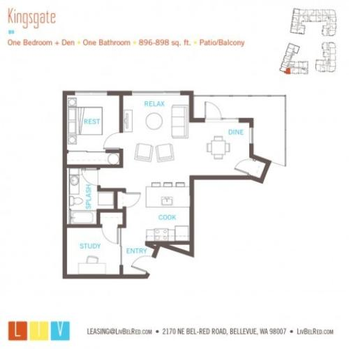 Floor Plan 25 | Bellevue Washington Apartments | LIV