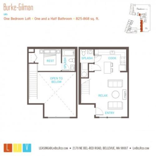 Floor Plan 27 | Bellevue Apartments | LIV