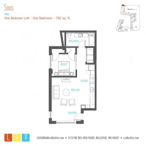 Floor Plan 28 | Bellevue WA Apartments | LIV