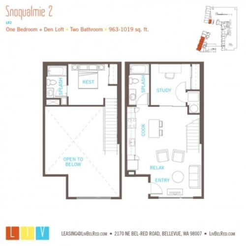 Floor Plan 29 | Apartments Bellevue WA | LIV
