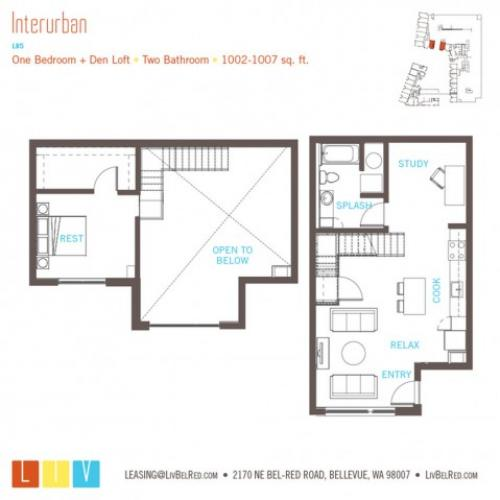 Floor Plan 30 | Bellevue Washington Apartments | LIV