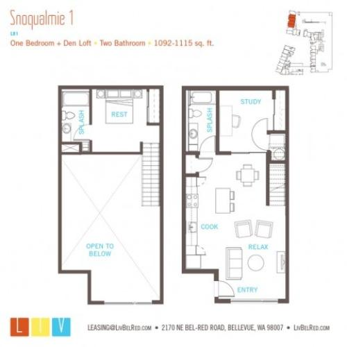 Floor Plan 31 | Apartments For Rent In Bellevue Washington | LIV