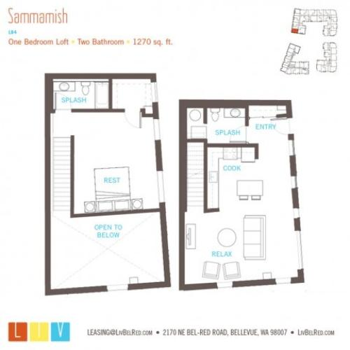 Floor Plan 32 | Bellevue Apartments | LIV