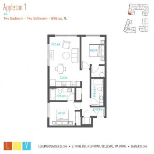 Floor Plan 33 | Bellevue WA Apartments | LIV