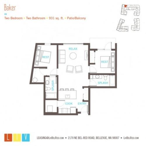Floor Plan 35 | Bellevue Washington Apartments | LIV
