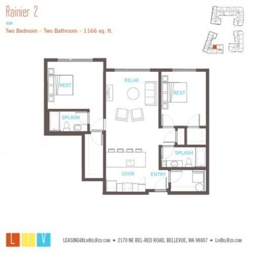 Floor Plan 52 | Bellevue WA Apartments | LIV