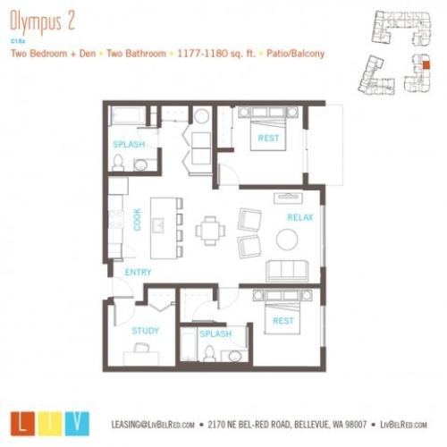 Floor Plan 53 | Bellevue WA Apartments | LIV