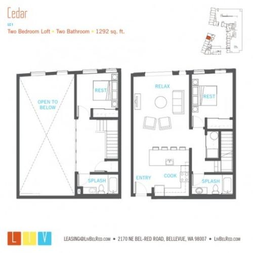 Floor Plan 55 | Bellevue WA Apartments | LIV
