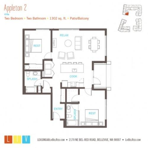Floor Plan 56 | Bellevue WA Apartments | LIV