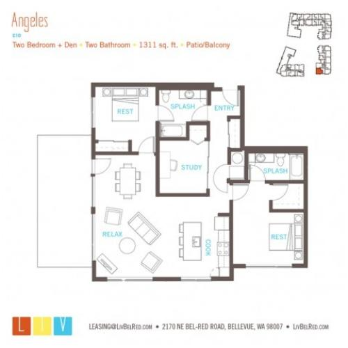 Floor Plan 57 | Bellevue WA Apartments | LIV