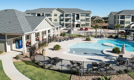 Sparkling Pool | Apartments For Rent In Kyle TX | The Strand
