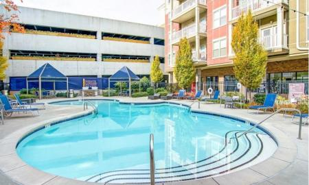 Sparkling Pool | Studio Apartments In Atlanta | Pencil Factory Flats