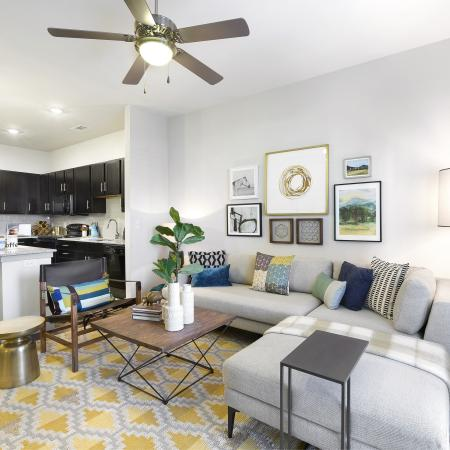 Spacious Living Room   Apartments In Temple TX   Villas on the Hill