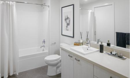 Elegant Master Bathroom | Apartment In Portland Oregon | The Rise Old Town