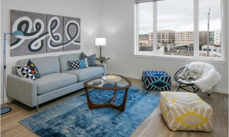 Spacious Living Room | Beaverton Apartment | The Rise Old Town