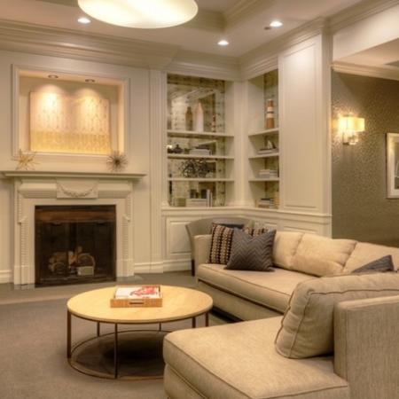 Residents Relaxing in Club Room | Studio Apartments Chicago IL | The Seneca