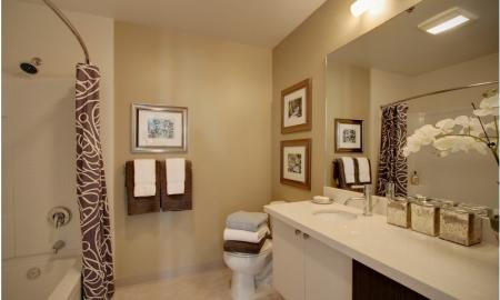 Ornate Bathroom | Seattle Luxury Apartments Downtown | The Post