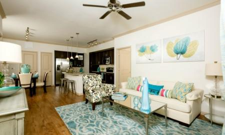 Spacious Living Room | Apartments In Houston | Valencia Place
