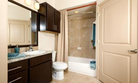 Ornate Bathroom | Apartments In Houston | Valencia Place