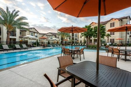 Playing in the Pool | Apartments In Houston TX | Valencia Place
