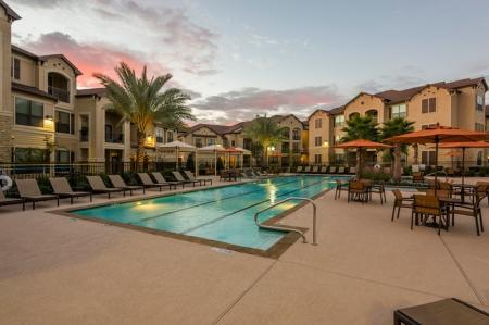 1 Lounging by the Pool | Houston TX Apartment | Valencia Place