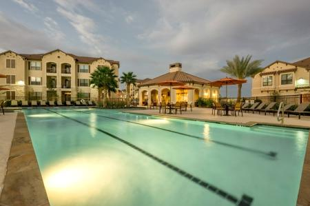 1 Tanning by the Pool | Apartments Houston | Valencia Place