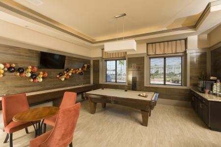 Resident Billiards Table | Apt For Rent Houston | Valencia Place