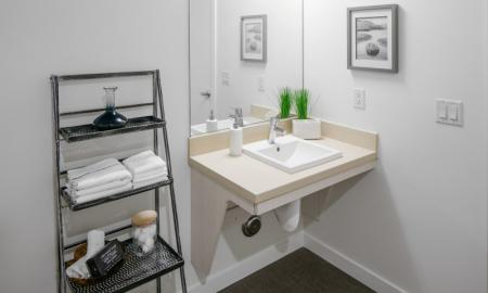 Elegant Bathroom | Beaverton Apartment | The Rise Old Town