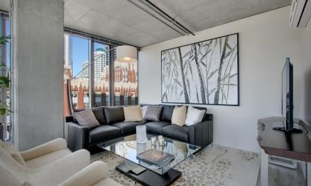 Spacious Living Room | Seattle Luxury Apartments Downtown | The Post