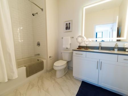 Spacious Master Bathroom | Somerville Apartment | Montaje