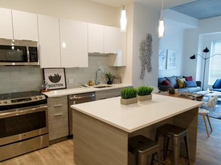 Elegant Kitchen | Somerville Luxury Apartments | Montaje