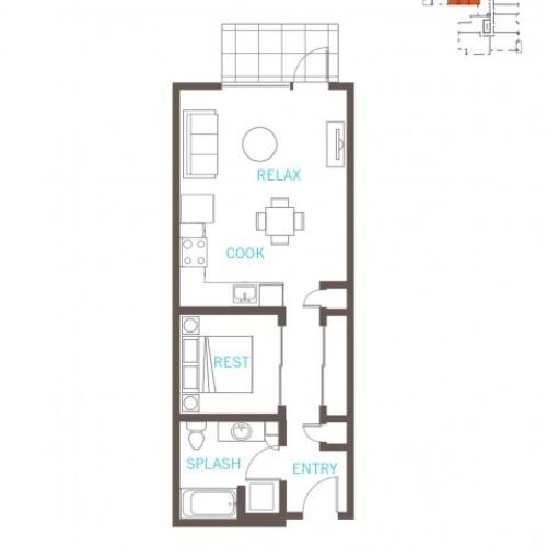 Floor Plan 7 | Bellevue Apartments | LIV
