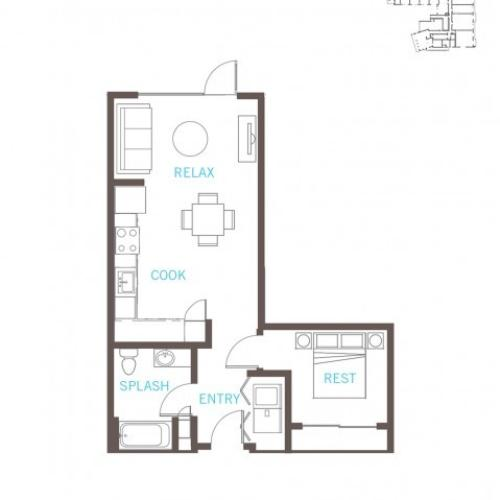 Floor Plan 13 | Bellevue WA Apartments | LIV