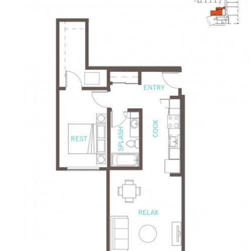 Floor Plan 15 | Bellevue Washington Apartments | LIV