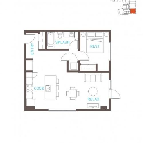 Floor Plan 17 | Bellevue Apartments | LIV