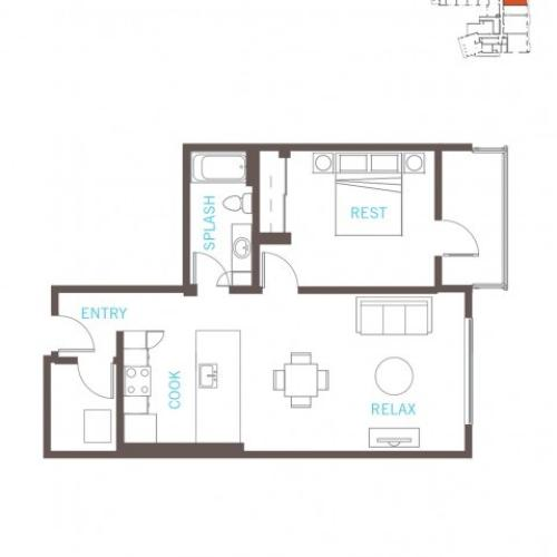 Floor Plan 18 | Bellevue WA Apartments | LIV