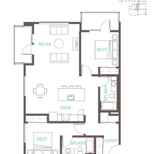 Floor Plan 51 | Bellevue WA Apartments | LIV