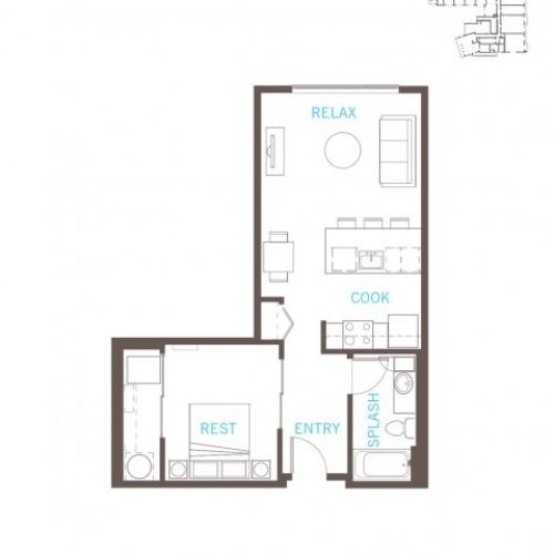 Floor Plan 12 | Bellevue Apartments | LIV