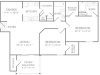 Floor Plan 5 | Apartments For Rent McDonough GA | Amber Chase 1