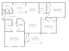 3 Bdrm Floor Plan | Apartments In McDonough | Amber Chase